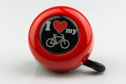 Motive-Bell 'I love my bike', 55mm, with Rotary-Action, red